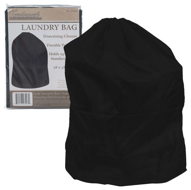 Heavy Duty Jumbo-Sized Nylon Laundry Bag By Trademark Home, Black.