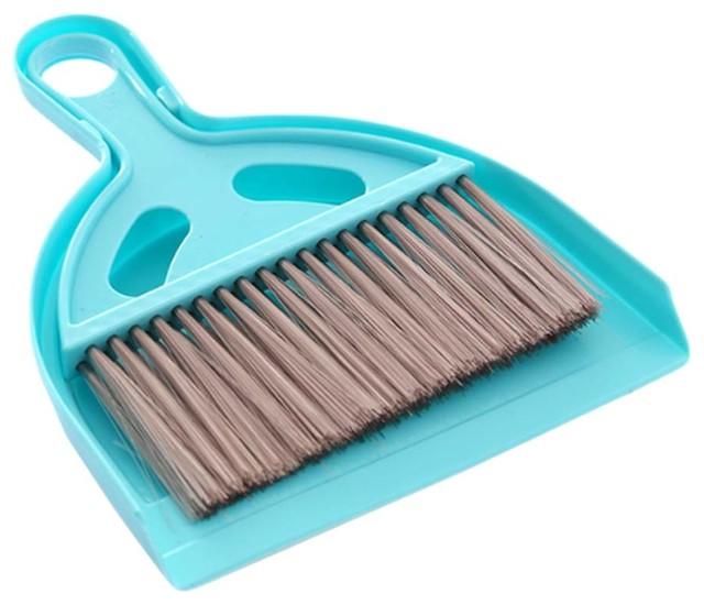 Mini Cleaning Broom Brush and Dustpan Set Broom Desktop Sweep Cleaning ~~
