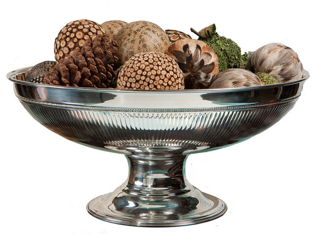 Accents for the home brass centerpiece bowl nickel