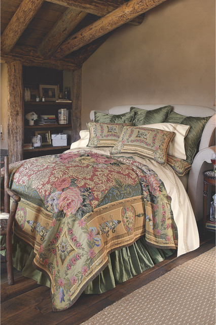 Mas La Barque Tapestry Coverlet Traditional Bedding