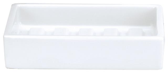 Dwba Countertop Soap Dish Saver Holder Tray White Porcelain