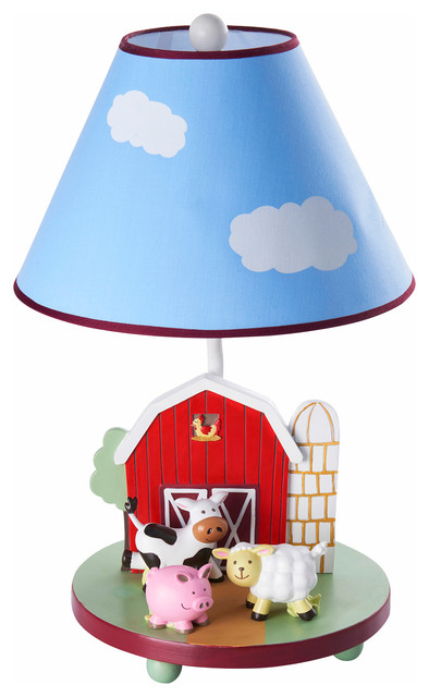 Tractor Bedside Lamp : Farm friends table lamp farmhouse kids lamps by