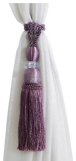 Curtain Tiebacks, Holdbacks Room Decors Curtain Accessories Purple Tassels.