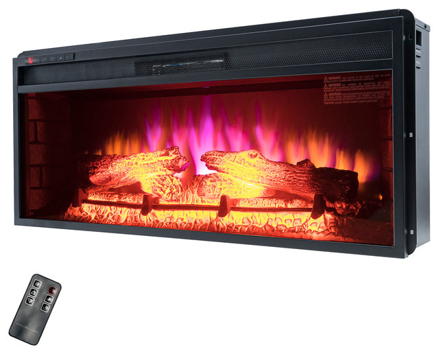 "36"" Insert Freestanding Electric Fireplace."