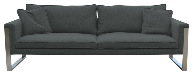 dark gray camina wool slipcovers and chair covers by sohoconcept