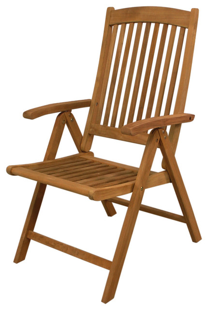 Teak Avalon Folding 5 Position Deck Chair