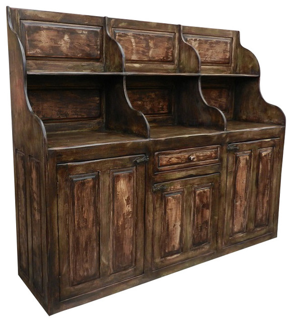 Silver Coast Company Antique Bar Keeping Chest Buffet Server Hand Made Reclaimed Wood - Wine And ...