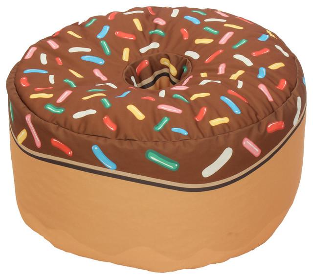 Elegant Chocolate Donut Adult Sized Beanbag
