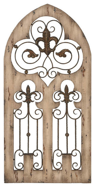 Wood And Iron Wall Decor wood metal wall decor wall decor - traditional - metal wall art