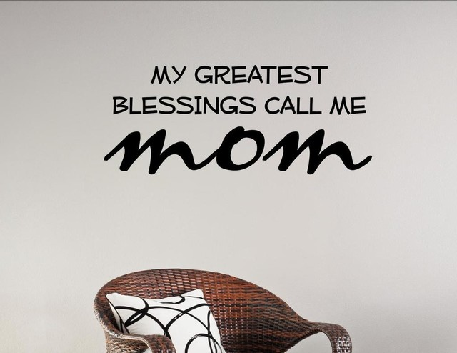 My Greatest Blessings Call Me Mom Wall Decor Stickers