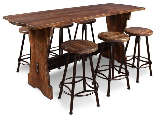 Sunset Trading - Sunset Trading 7-Piece Cabo Counter Height Pub ...