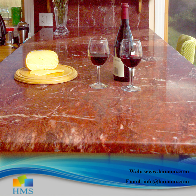 Autumn Red Marble Countertop Industrial