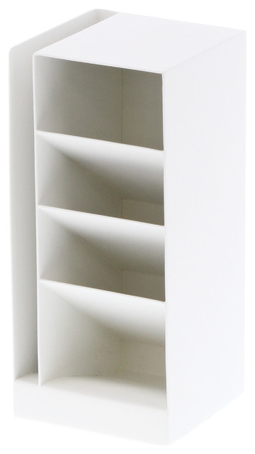 Tower 4 Tiered Desk Organizer, White.