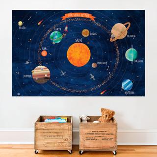 Solar System Poster Wall Sticker, Medium