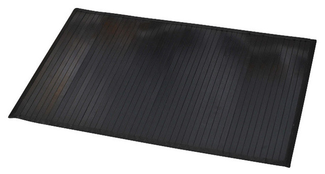 Bamboo Mat Anti Slippery Contemporary Bath Mats By