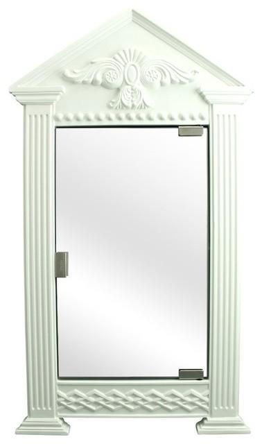 White Urethane Corner Medicine Cabinet, Premium Mirror, Ready To Paint - Transitional - Medicine ...