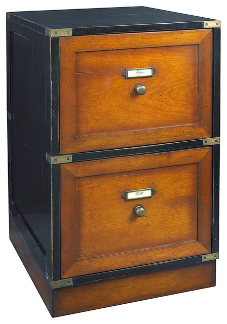 ... Authentic Models Campaign Files, Black - Filing Cabinets | Houzz