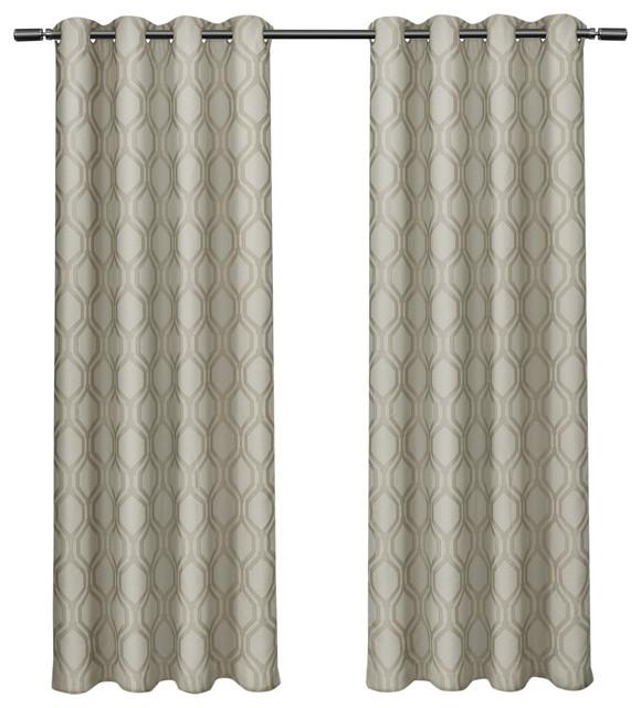 domino jacquard linen w blackout liner grommet curtains