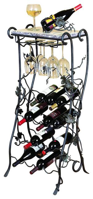 Bella Toscana Vineyard 16-Bottle Wine Rack Server.