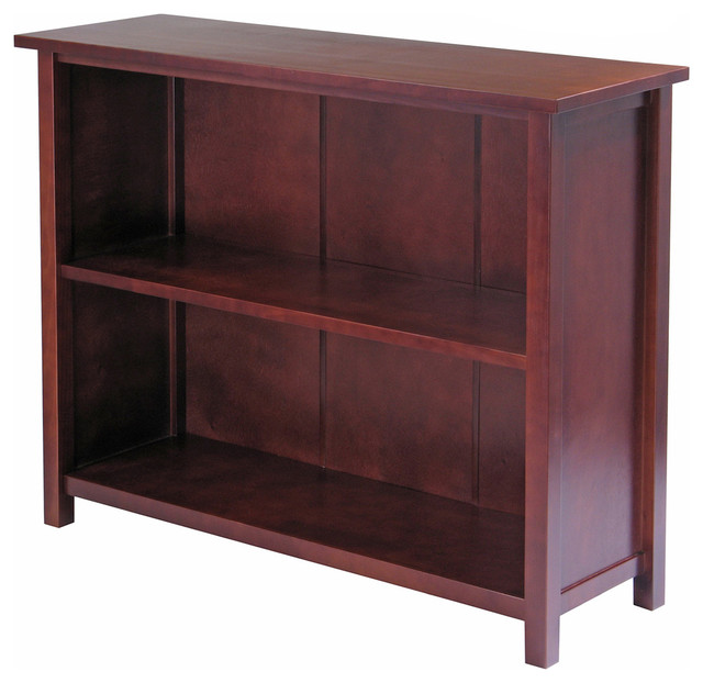 Winsome Milan Storage Shelf Or Bookcase, 3-Tier, Long.