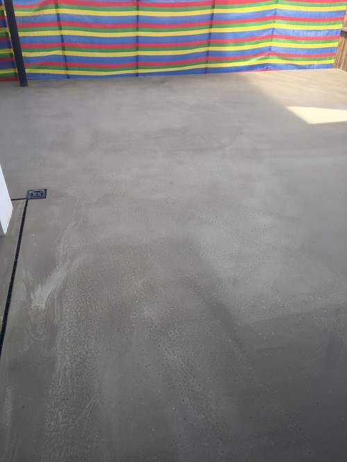 Help Has Our Polished Concrete Patio Gone Wrong - Polished concrete patio