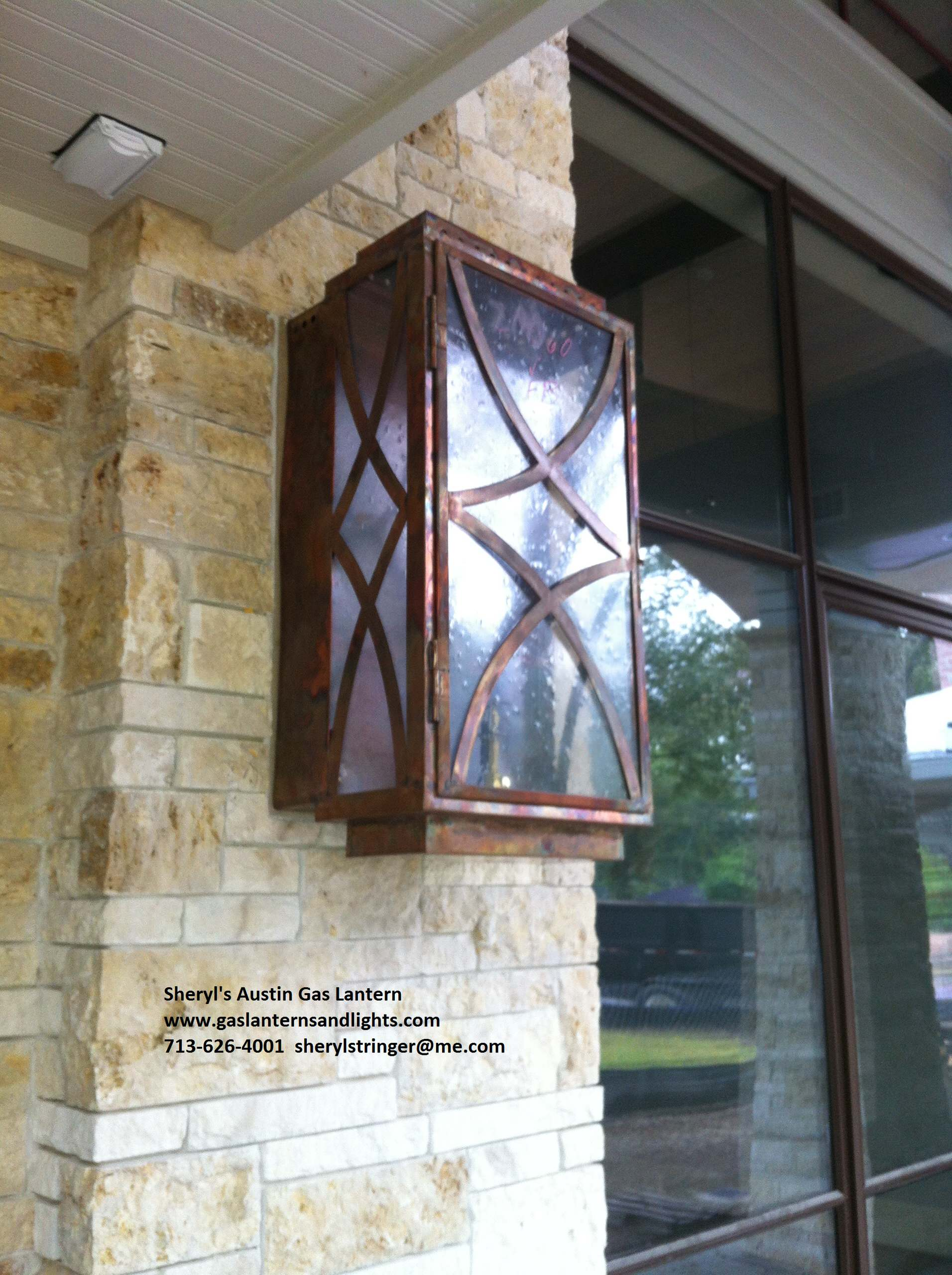 Sheryl's Austin Modern Gas Lantern