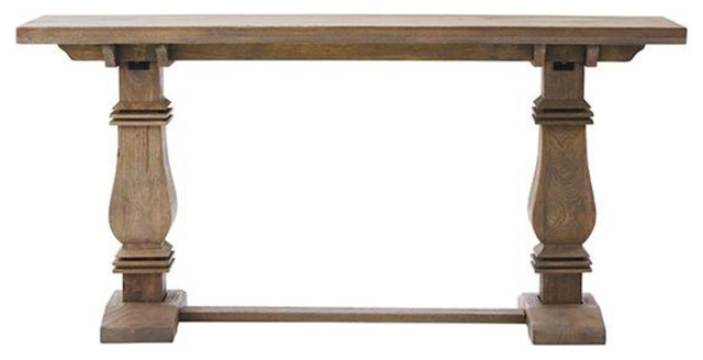 Aldridge Console Table, Antique Gray
