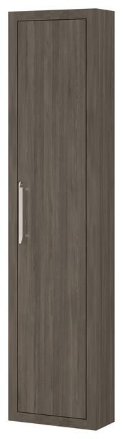Montreal wall linen cabinet oak joplin right opening for Bathroom cabinets montreal