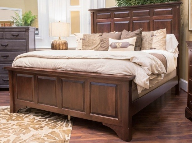 Katy Brown Maple King Bed