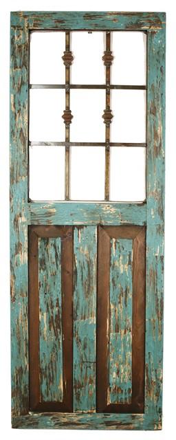 Durango Architectural Window, Turquoise.