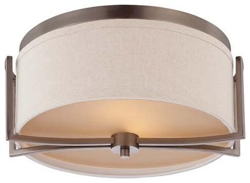 Nuvo Lighting 60/4861 Gemini 2 Light Flush Dome Ceiling Fixture.