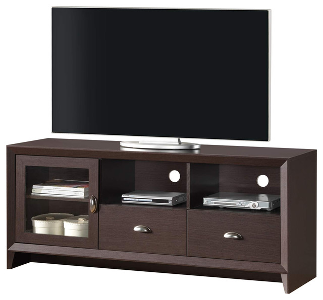 Techni mobili contemporary 65 inch tv stand in wengue for Sofas under 80 inches