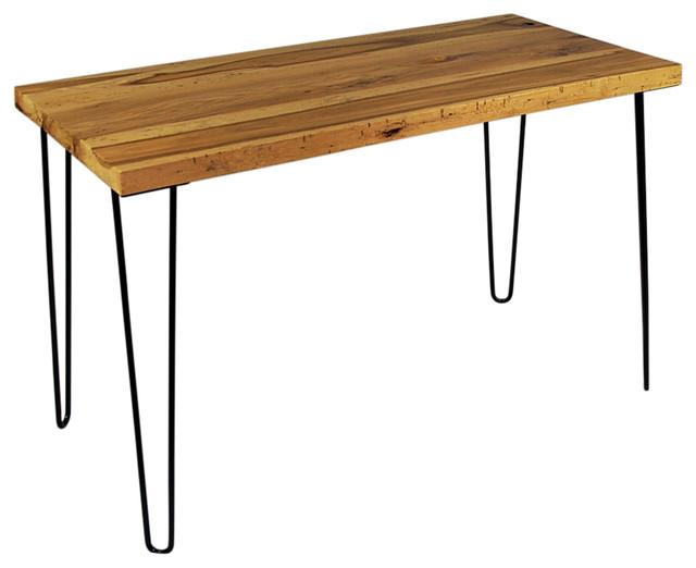 Gardelli Reclaimed Barn Wood Modern Rustic Desk Hairpin