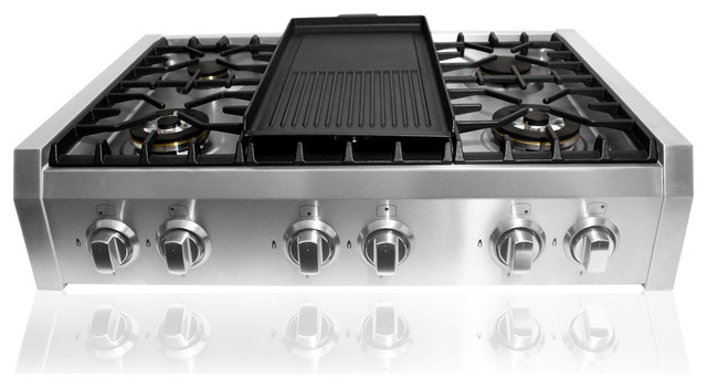 Pro Style Cooktops ~ Professional style slide in gas cooktop modern
