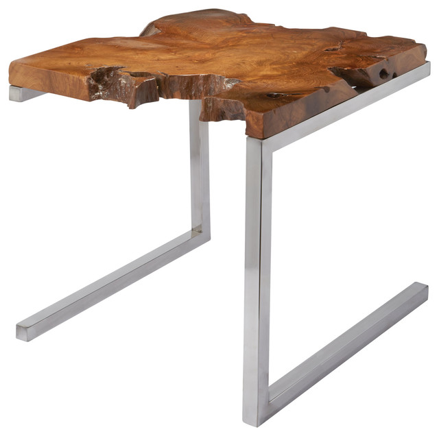 Shop Houzz ELK Group International Teak Table With  : rustic side tables and end tables from www.houzz.com size 640 x 636 jpeg 50kB