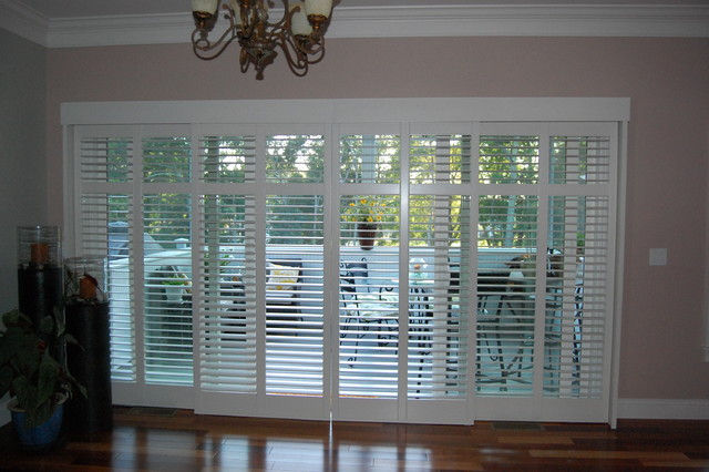 Delightful Plantation Shutters Traditional