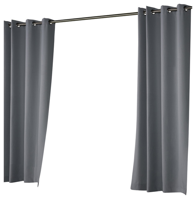Outdoor Decor Costal Solid, Dark Gray, 50x96.
