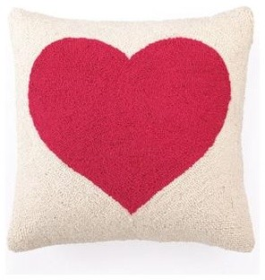 Red Heart Hooked Pillow