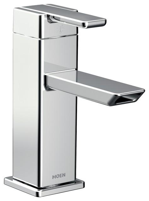 Moen 90 Degree 1 Handle Low Arc, Moen Chrome Bathroom Faucet