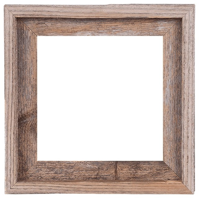 Tulsa Signature Reclaimed Rustic Barn Wood Open Frame - Rustic ...