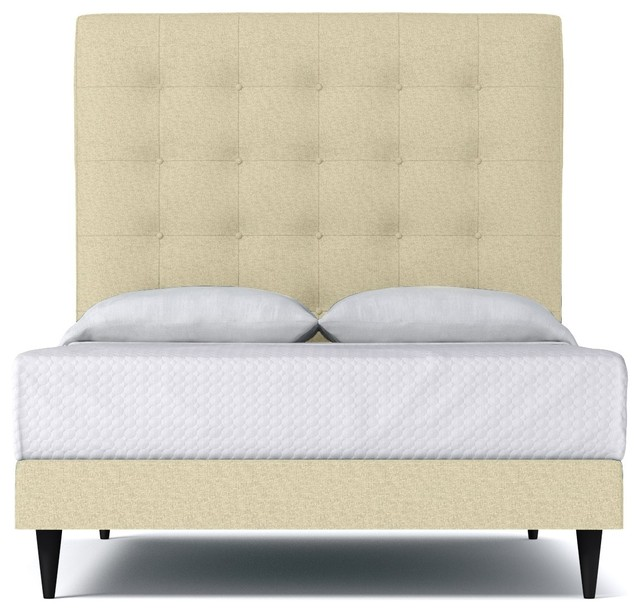 Palmer upholstered bed from kyle schuneman bisque for Sofa bed 8101