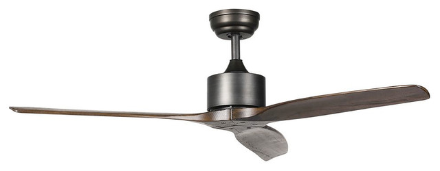 Turbine Wooden Ceiling Fan With Remote Control 52