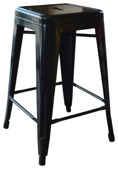 Loft Metal Stools Set Of 4 Contemporary Bar Stools And Counter