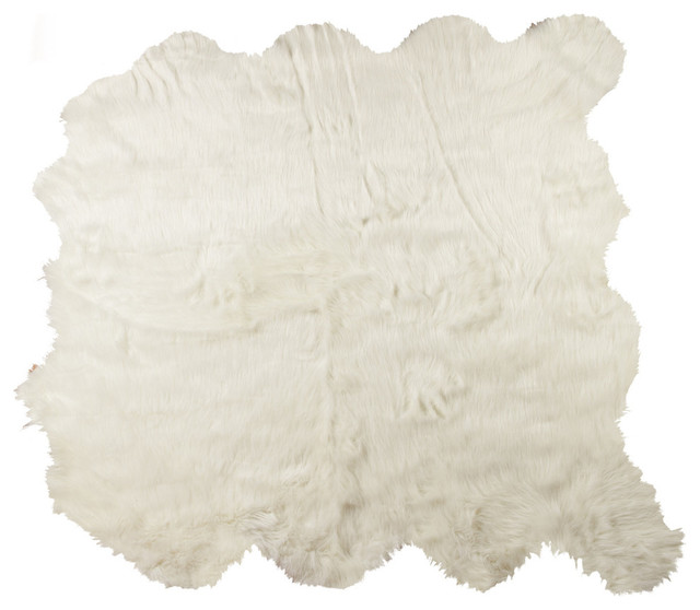 gordon faux sheepskin rug off white rusticarea