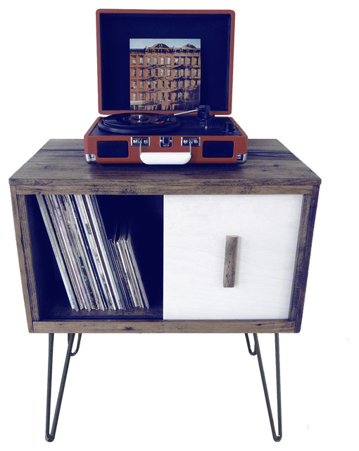 Reclaimed Wood Record Cabinet - Midcentury - Media Cabinets - by ...