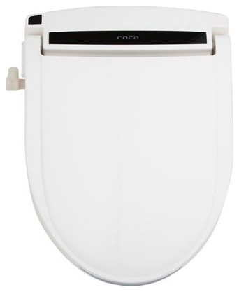 Coco Bidet Electronic Toilet Seat With Tankless Heated Water White Contemporary Bidets