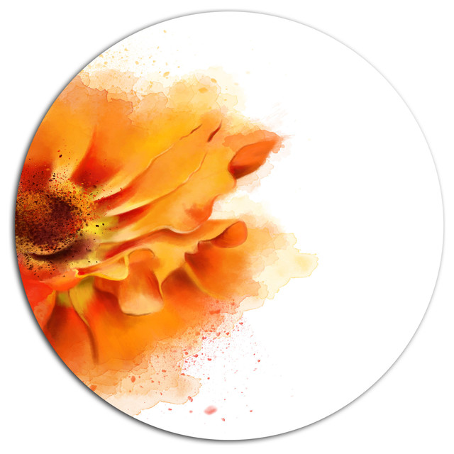 Beautiful yellow flower watercolor flowers round metal wall art beautiful yellow flower watercolor flowers round metal wall art 11 mightylinksfo