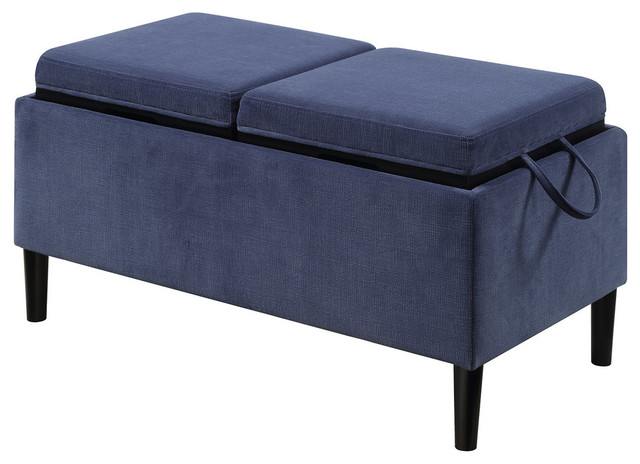 Convenience Concepts Designs4comfort Storage Ottoman With Trays Midcentury Footstools And Ottomans By Homesquare
