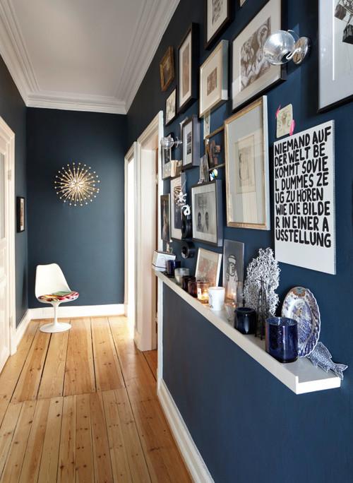raumgestaltung mit farbe rote akzente setzen, mit farbe im flur akzente setzen - bild der frau, Design ideen