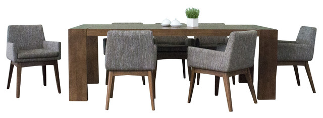 Donnelly 7-Piece Dining Set, Gray.